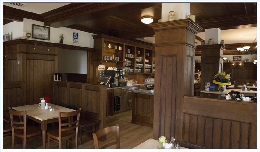 Augustiner Bräu Echardinger Einkehr Restaurant Blick auf die Schänke