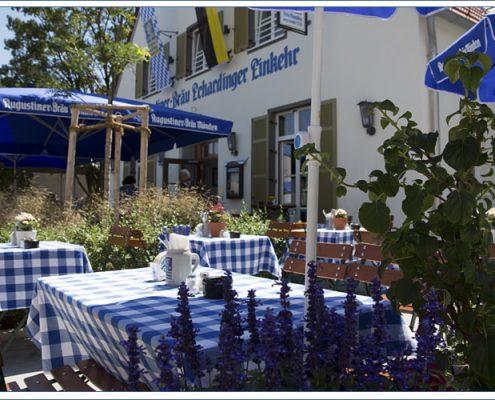 Augustiner Bräu Echardinger Einkehr Restaurant Terrasse