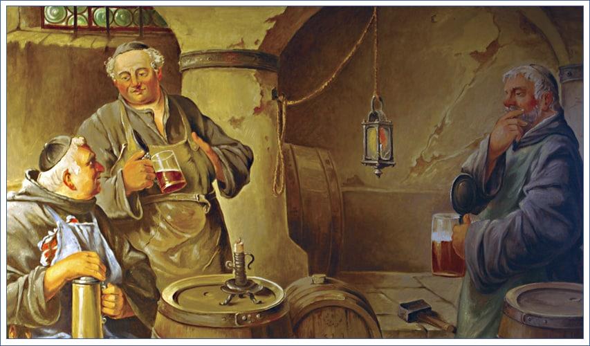 Bild Augutiner Mönche im Bierkeller